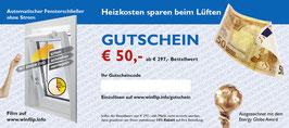 € 50 Gutschein ab € 297,- Bestellwert oder 10% Rabatt