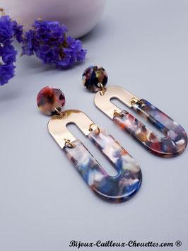 Boucles d'Oreilles CHLOE/marine
