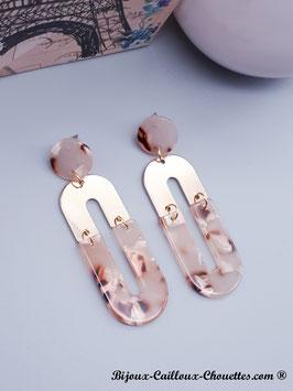 Boucles d'Oreilles CHLOE/rose