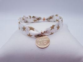 Bracelet Maman Je t'aime médaille PL 18K