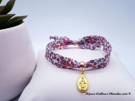 Bracelet liberty Madeline/médaille miraculeuse dorée