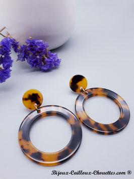 Boucles d'Oreilles CHARLOTTE/écaille ou marine