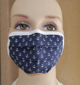 Kosmetikmaske, Mundschutz, Staubschutz aus Baumwolle mit Nasenbuegel