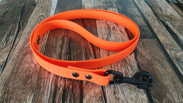 Hundeleine 1 Meter coated webbing orange