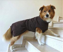 Hundebademantel Größe M Rückenlänge 60cm braun