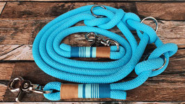 Hundeleine Tau Länge 2 m premium turquoise S