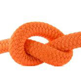 Halsband 12 mm Fettleder neon orange