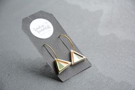 Ohrhänger geometrische Dreiecke mit goldenen Akzenten