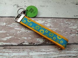 Schlüsselband Stern / gelb