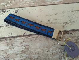 Schlüsselband Pferd / blau