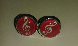 Ohrringe Musik (rot)