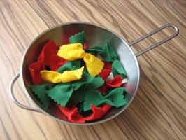 Schmetterlingsnudeln (Farfalle) Tricolore