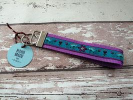 Schlüsselband Blume / flieder
