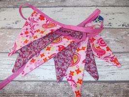 Wimpelkette Blumen / Paisley
