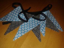 Wimpelkette Schwarz-Blau