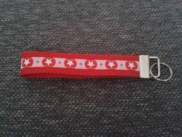 Schlüsselband Stern / rot