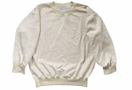 Organic Ecru Multicolored Oversized Sweatshirt