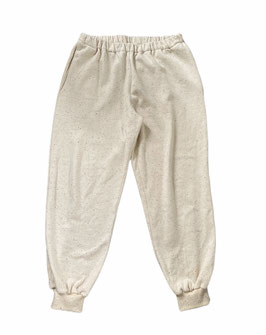 Organic Ecru Multicolored Oversized Sweatpants