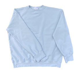 Organic Pastel Blue Oversized Sweatshirt