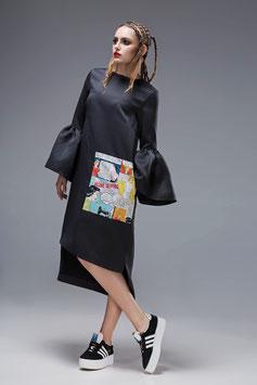 Black Popart Dress