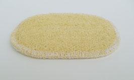 Ovale Ablage aus Luffa 12,5 x 8,5 cm