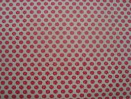 Petite Prints  ecru / rood