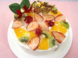 アレルギー対応ケーキ   クリスマスフルーツショート15cm  12/22出荷限定 【冷蔵便】