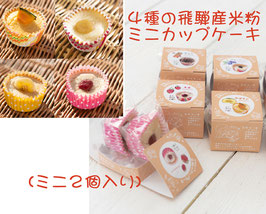 4種の飛騨高山産米粉のミニカップケーキ(B)(各ミニサイズ2個入り)(冷凍)