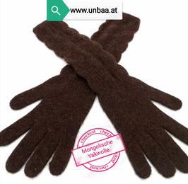 Handschuhe /Lang/ aus Yakwolle M,L