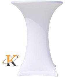 Stretchhussen für 70 cm Stehtisch in Weiß