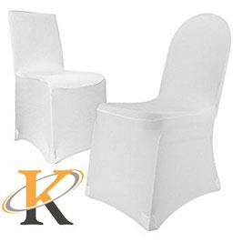 Stuhlhusse Stretch weiß