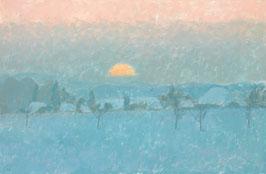 Sonnenuntergang im Winter