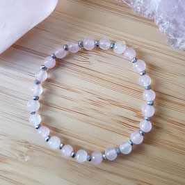 Bracelet enfant en quartz rose