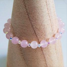 """Bracelet en quartz rose """"Sérénité"""""""