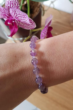 Bracelet femme en améthyste
