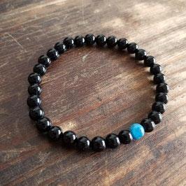 Bracelet couple homme apatite bleue 6mm
