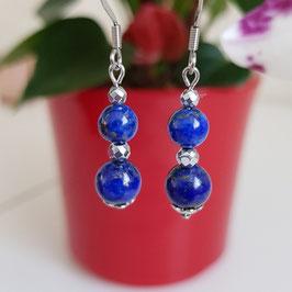 """Boucles d'oreilles """"Lapis lazuli"""""""
