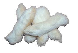 Kaninchenpfoten getrocknet mit Fell