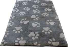 große graue Pfoten - Hundedecke