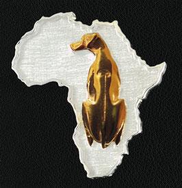 Rhodesian Ridgeback in Silber + Rotgold