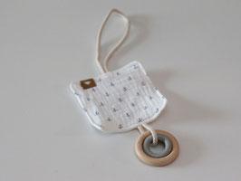 Knistertuch mit Ankern und Ringen für den Kinderwagen