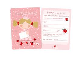 Einladungskarten Kindergeburtstag Prinzessin rosa