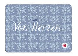 Postkarte Blumen millimi