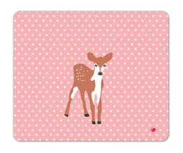 Schreibtischunterlage Mädchen Reh Bambi Sterne rosa 60x50 millimi