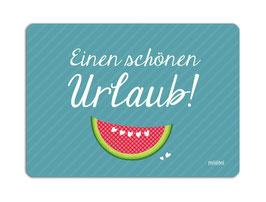 Postkarte Einen Schönen Urlaub blau millimi
