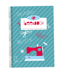 Ideenbuch Bastelbuch A5 50 Blatt blau