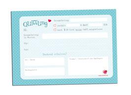 Quittungsblock BLAU (auch Kleinunternehmer § 19 UStG)  mit Durchschlag Din A6