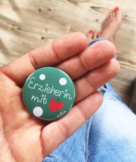 """Button """"Erzieherin mit Herz"""" mint Millimi"""