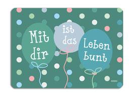 Glückwunschkarte Luftballon millimi