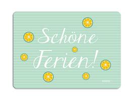 Postkarte Schöne Ferien grün millimi